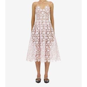 SELF-PORTRAIT Azaelea Guipure Lace Midi Dress